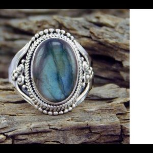 New sterling silver turquoise ring